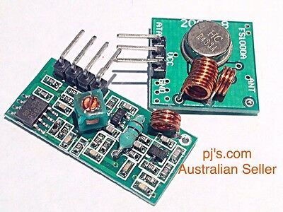RF transmitter & receiver 433Mhz for Arduino remote control Project