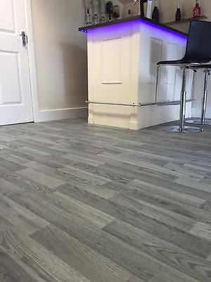Polysafe Grey Wood Effect | Commercial Flooring | Safety Flooring | 2mt wide