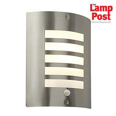 Saxby Bianco ST031FPIR Outdoor IP44 Stainless Steel Wall Light PIR Security