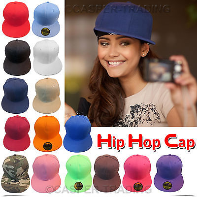 Baseball Hip-Hop Adjustable Flat Cap Mens Womens Plain Snapback Boy Baseball Hat