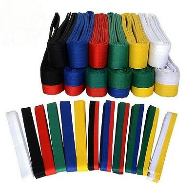 Taekwondo Belt Karate Double Wrap Belt Martial Arts All Colors Professional New