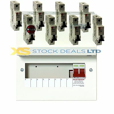 Wylex NM806 Amendment 3 Metal Clad 8 WAY Consumer Unit + 100A Switch + 8 MCBS