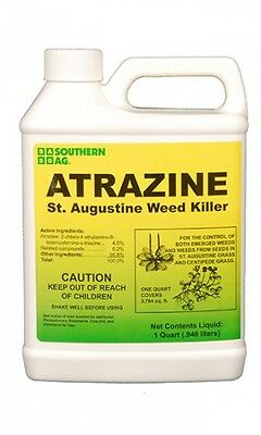 Atrazine Weed Killer 32 oz. Herbicide St. Augustine Centipede Grass Southern Ag