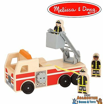 Melissa & Doug 19391 Wooden Fire Engine Truck Fireman Ladder Early Learning Toy