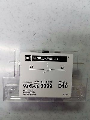 Square D 9999D10 Auxiliary Contact, Series B, New