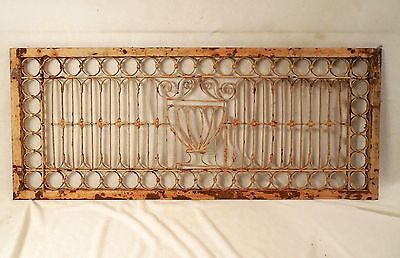 Antique Floor Grate 31 x 13 Wrought Iron Cast Victorian Cold Air Return Register