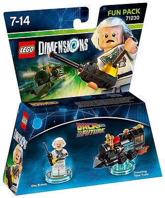 LEGO Dimensions Fun Pack Back To The Future Doc Brown 71230 IT IMPORT LEGO