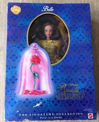1996 Barbie Walt Disney's Beauty And The Beast Belle Doll Toy Vintage Yellow