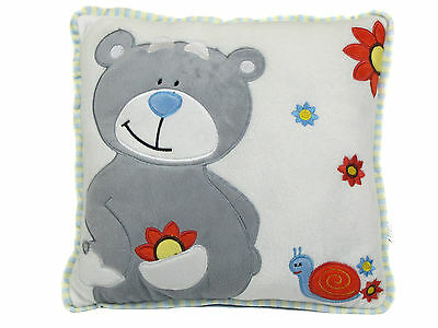 30cm Cushion with Bear design by Cuddles Time. Job Lot of 12 pieces