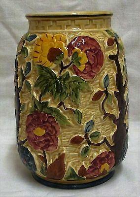 "7"" Vintage H. J. Wood 'Indian Tree' Majolica Vase No 575."