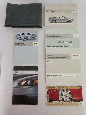 2006 Volvo C70 Owners Manual Guide Book