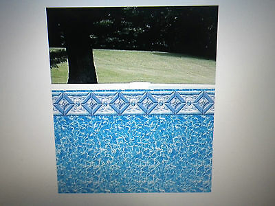 24 Ft Round 52 inch Beaded Above Ground Pool Liner Outlook/Prism Integrity