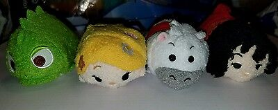 Disney Tsum Tsum Tangled set of 4 Rapunzel Pascal Maximus Gothel NEW WITH TAGS