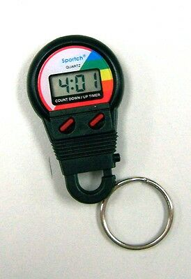 Multi -timer Key Ring 20 Hr Countdown/20 Minute Count Up Sports Racing **NEW**