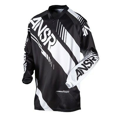 Answer Racing 2017 Syncron motocross MX jersey black/white size XL extra-large