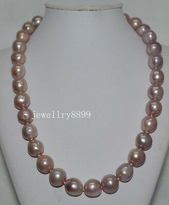 Natural Rare purple 13mm KASUMI PEARL NECKLACE J7132