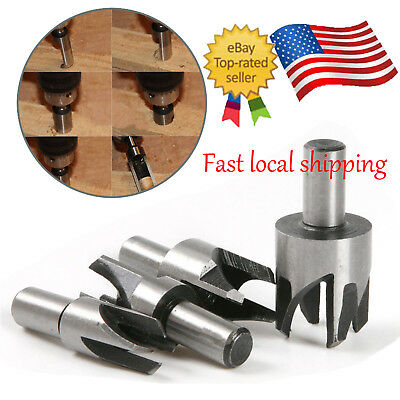 """4x 5/8"""" 1/2"""" 3/8"""" 1/4"""" Claw Type Wood Plug Hole Cutter Woodworking Tenon Drill"""