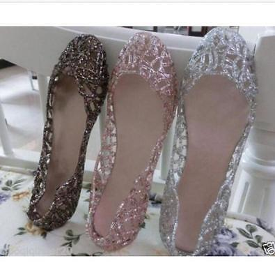 Wholesale Womens Ventilate Crystal Shoes Jelly Hollow Sandals Flats Clear Shoes