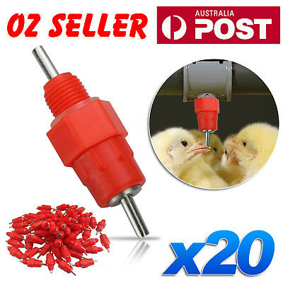 10/20 Water Nipple Valves Auto Drinker Waterer Feeder Poultry Chicken Duck Bird