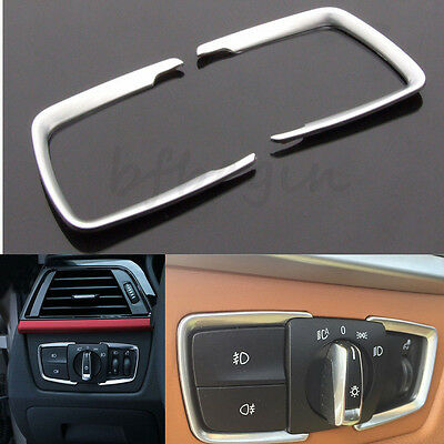 Head Light Matt Chrome Switch Trim Cover For BMW F30 F31 F32 F34 1 3 4 Series X5