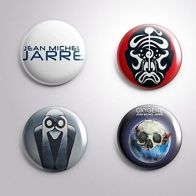 4 JEAN MICHE JARRE EQUINOCE OXYGENE  - Pinbacks Badge Button Pin 25mm 1''
