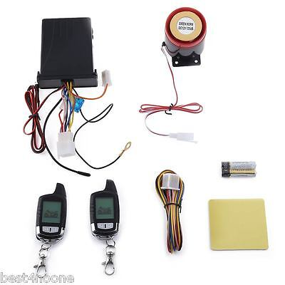 Waterproof LCD 2Way Motorcycle Alarm Engine Start Security Anti-theft System hot