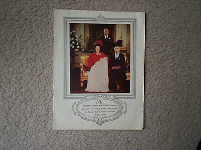 Royalty Memorabilia-Three Historical Items Of Ephemera Incl  The Queens* Vow