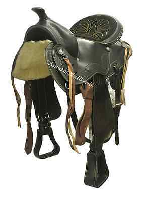 Genuine Leather Western Saddle