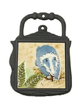 Badger Design Cast Iron and Ceramic Kettle Shape Kitchen Trivet