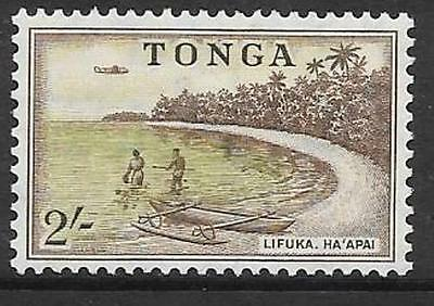 Tonga Sg111 1953 2/- Sage-Green & Brown Mtd Mint