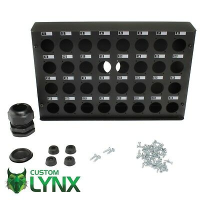 32 Way Empty Stage Box - Wall Box - Powder Coated Steel - XLR Box - 32 Channel