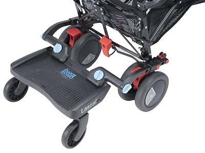 Lascal Pram Pushchair Ride On BuggyBoard + Connectors Universal Fit MINI 3D BLUE