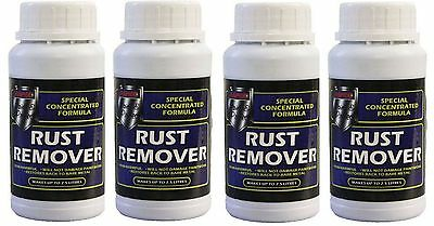 4 x Rust Remover Car Bike Chain Rust Treatment Concentrated Makes up to 2.5 Ltr