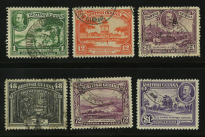 British Guiana  1934  Scott #  210-222  USED Part Set
