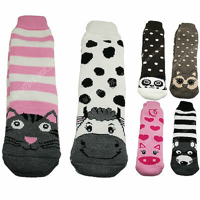 Ladies Feet Heater Thick Animal Socks Warm Winter Ultra Thermal 2.2 TOG