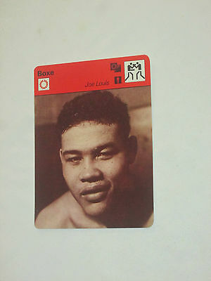 Sporscaster Fiche Champion Boxe Boxing Joe  Louis Usa Etats-Unis