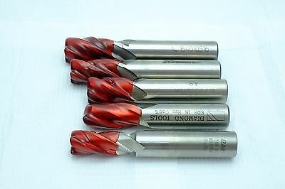 5 pieces of professionally reground HSS endmill 16 mm sealed