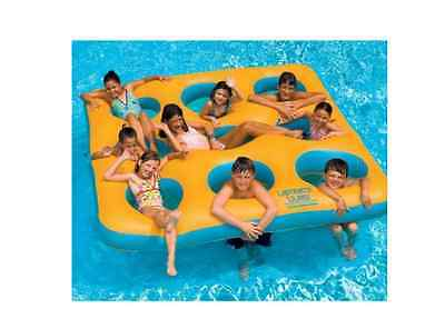 Inflatable Island Pool Toy Water Float Raft Lounge Swimming Beach Floating New