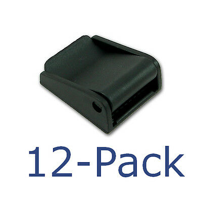 "Twelve (12) Black Nylon Strap Locks for 1"" Nylon Webbing 
