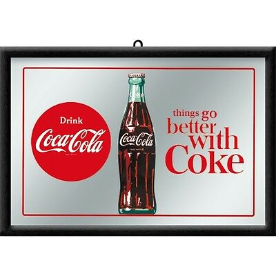 Coca Cola Things go better Nostalgia Bar Mirror 8 11/16x12 5/8in