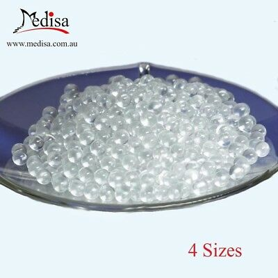 Laboratory Glass Solid Round Beads, 500gr/Bag, 4 Sizes