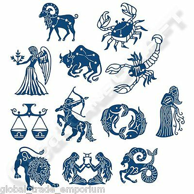 NEW TATTERED LACE ZODIAC Signs / Symbols Crafting Dies - Horoscopes  Astrology