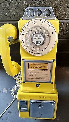 Automatic Electric Company Vintage Yellow Payphone Untested