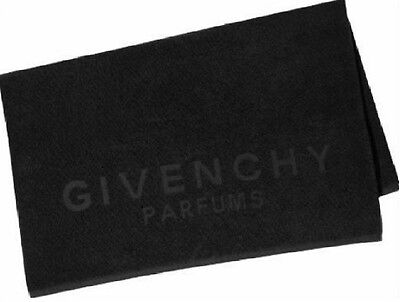 Givenchy Parfums Black Cotton Bath Beach Towel New 1499