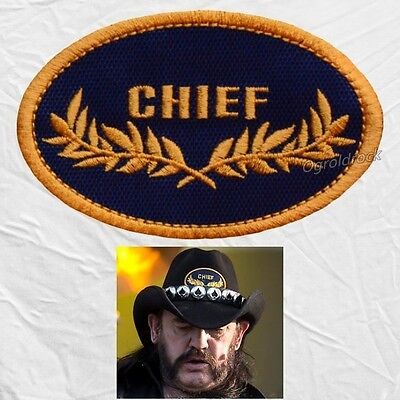 Motorhead Replica Chief Logo Hat Embroidered Patches Lemmy Kilmister Uniform