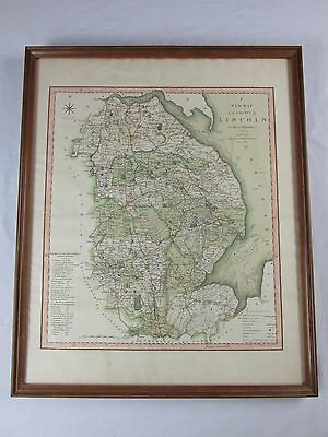 Original Old 1804 Map County of Lincoln London England C. Smith No. 172 Strand