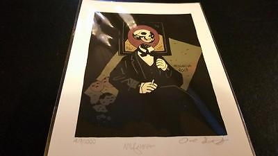 SKELETON HEAD Print RARE SOLD OUT 2014 NUMBERED SIGNED MIGNOLA PRINT x1 NM