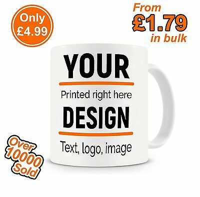 Personalised Custom Photo Mug Cup Gift Image Text Wholesale Bulk Promotional