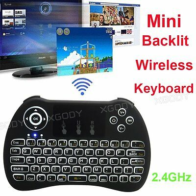Smart Backlit H9 Keyboard 2.4GHz Wireless with touchpadc for Android TV BOX Mini