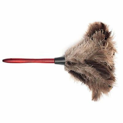 1x 35CM Ostrich Feather Duster Brush Anti-static Long Wooden Handle Home New GL